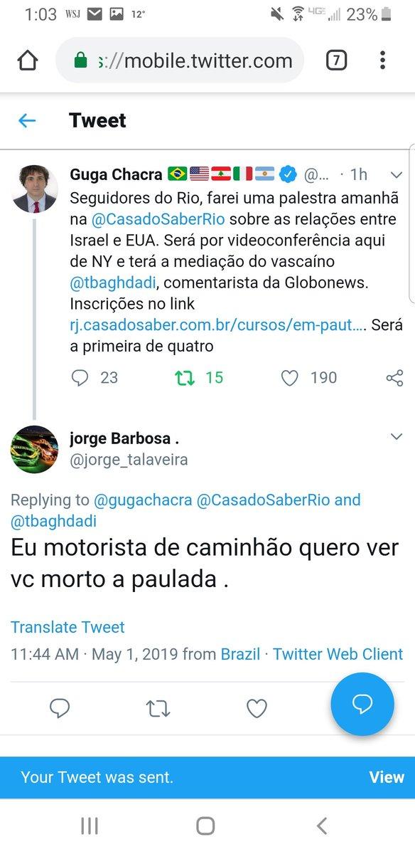 """Jornalista da Globo é ameaçado de morte: """"quero ver você morto a paulada"""" 2"""