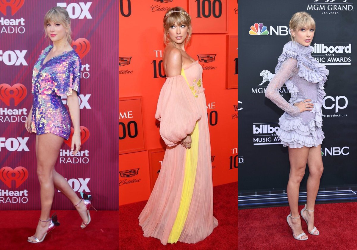 | Red carpet looks from the start of the #TS7 era!   #iHeartAwards2019  / #TIME100 / #BBMAs<br>http://pic.twitter.com/LulozA4SE9