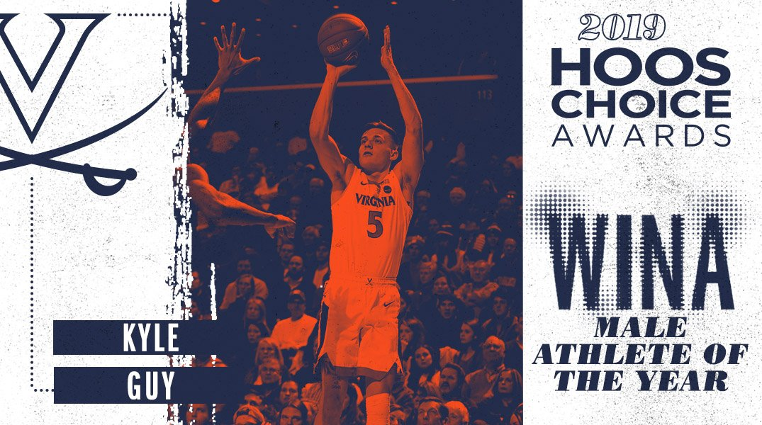He was the Final Four MOP, the WINA Male Athlete of the Year Award goes to ➡️ @kylejguy5! 🔶⚔️🔷 #GoHoos