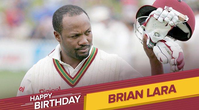 Highest Individual Run Scorer In Test Cricket (400*)  Happy Birthday Brian Lara