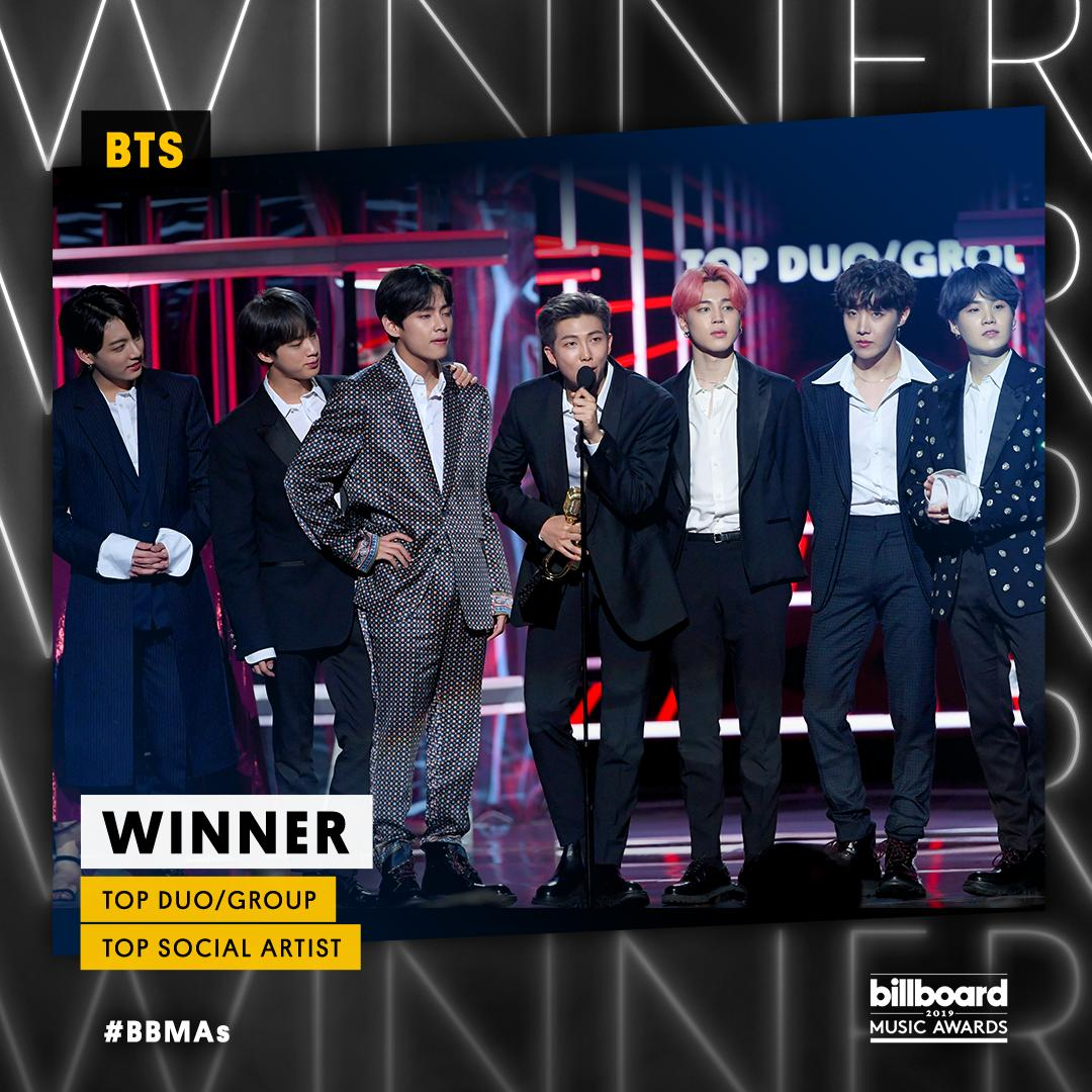 Congrats @BTS_twt! They are taking home TWO #BBMAs tonight.