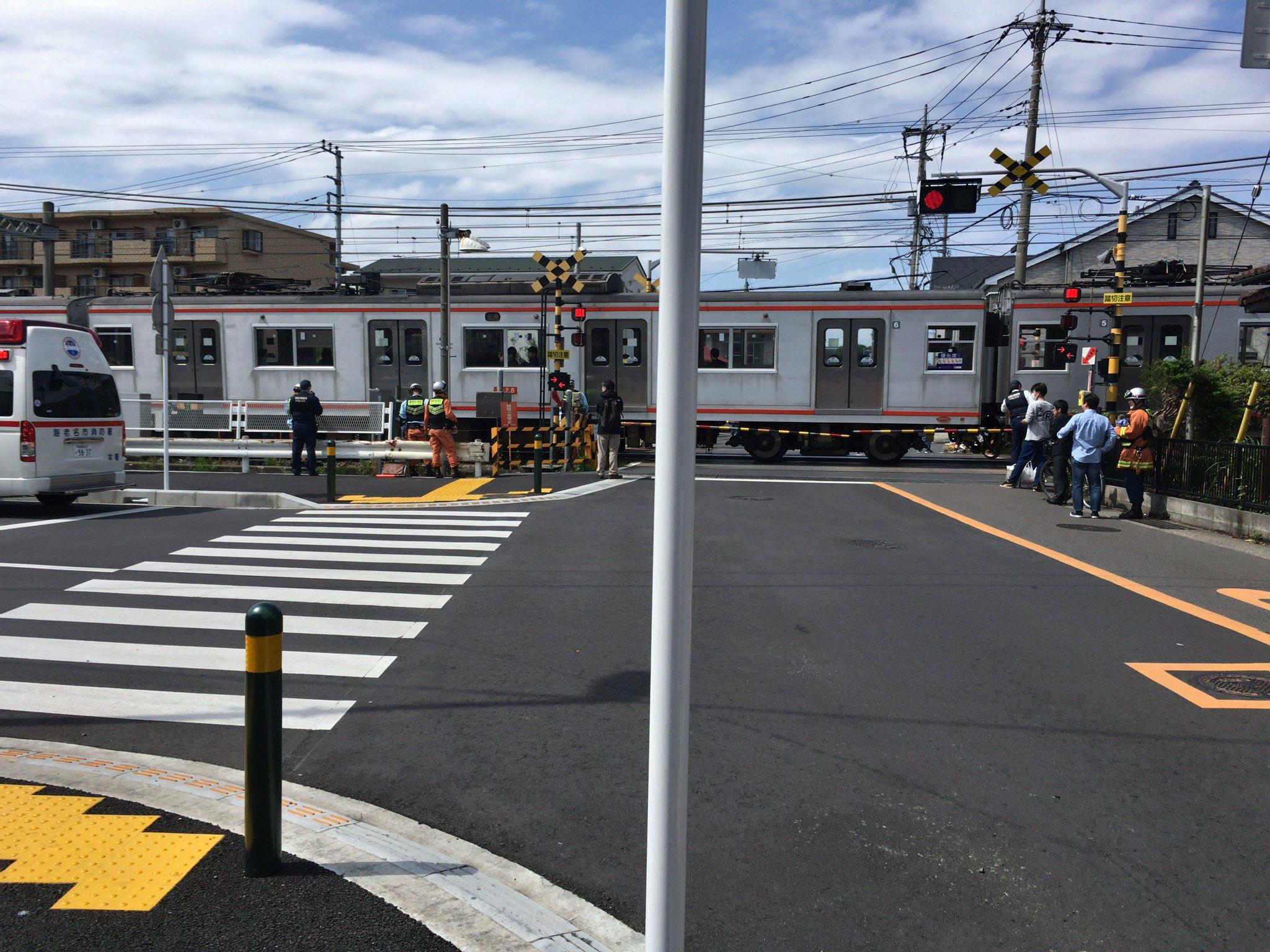 相鉄線の海老名駅~かしわ台駅間で人身事故が起きた現場画像