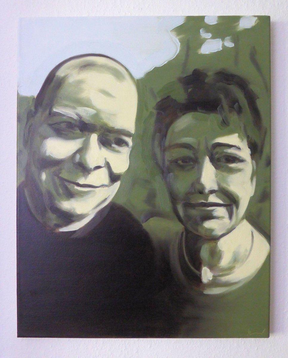 "4th part of painted celebrities, ""You and me 04, Gida"", 50x40cm, oil/canvas, 2019. #art #artwork #kunst #malerei #selfie #Promiselfie #dortmund  Http://instagram.com/eckhardbremerpic.twitter.com/IRf8BVi3bw"