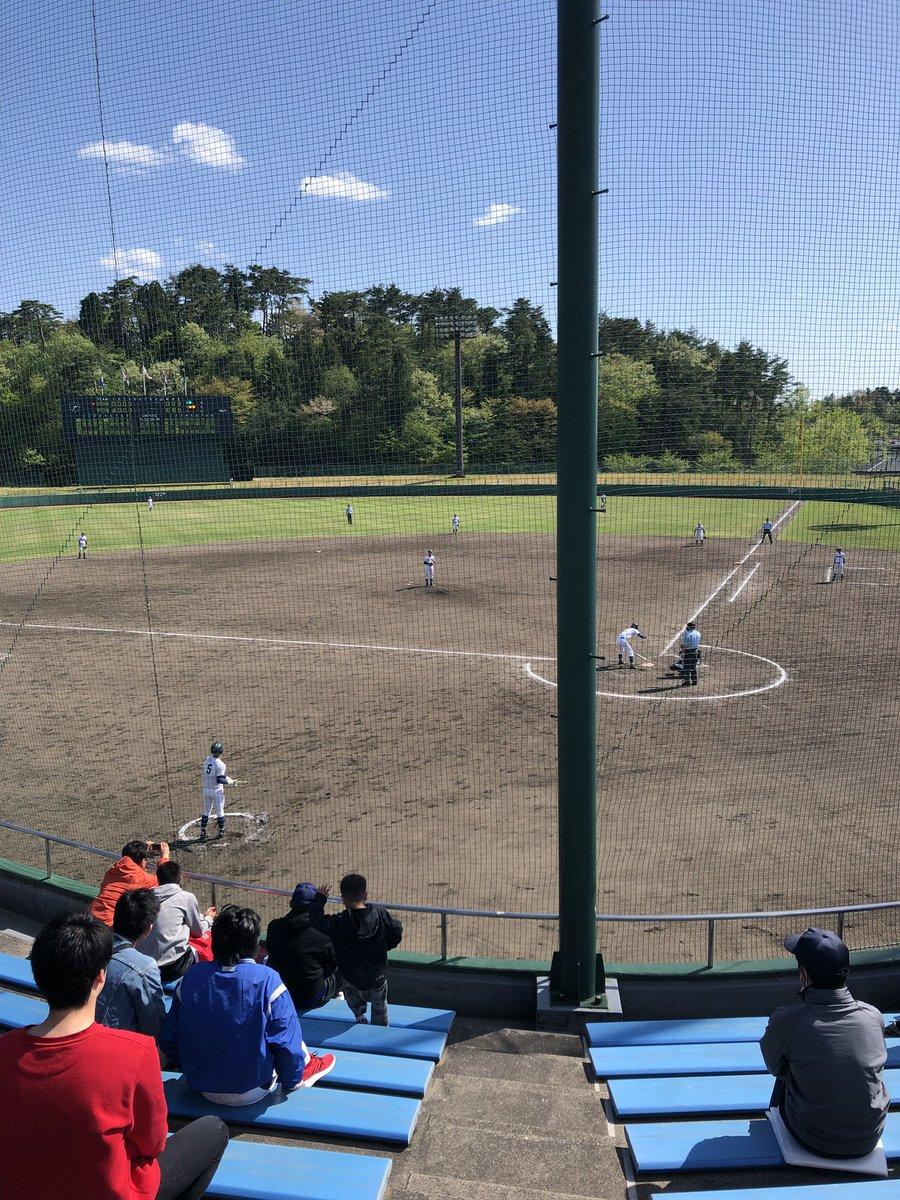 仕事を午前で終わらせて子連れで公園に、きたついでに隣の野球場で高校野球の県大会観ました。 偶然にも母校が勝ち進んだ試合でありました^_^