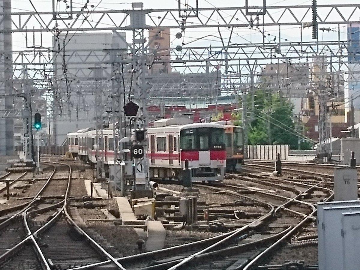 阪神本線の久寿川駅で人身事故の画像