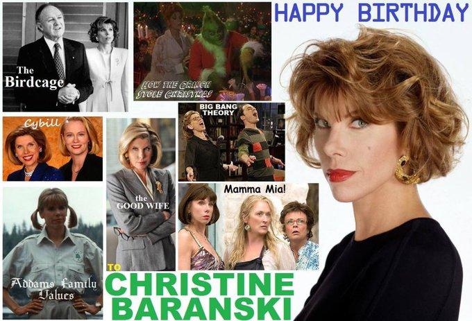 Happy birthday Christine Baranski, born May 2,1952.