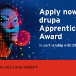 Image for the Tweet beginning: Apply now for the @drupa