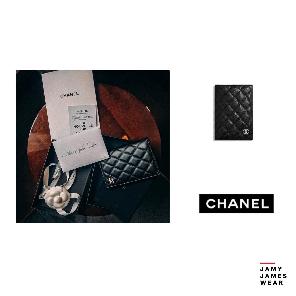 68fba13297c5 Chanel Classic Passport Holder Grained Calfskin & Silver-Tone Metal Ref.  A80385 Y83469
