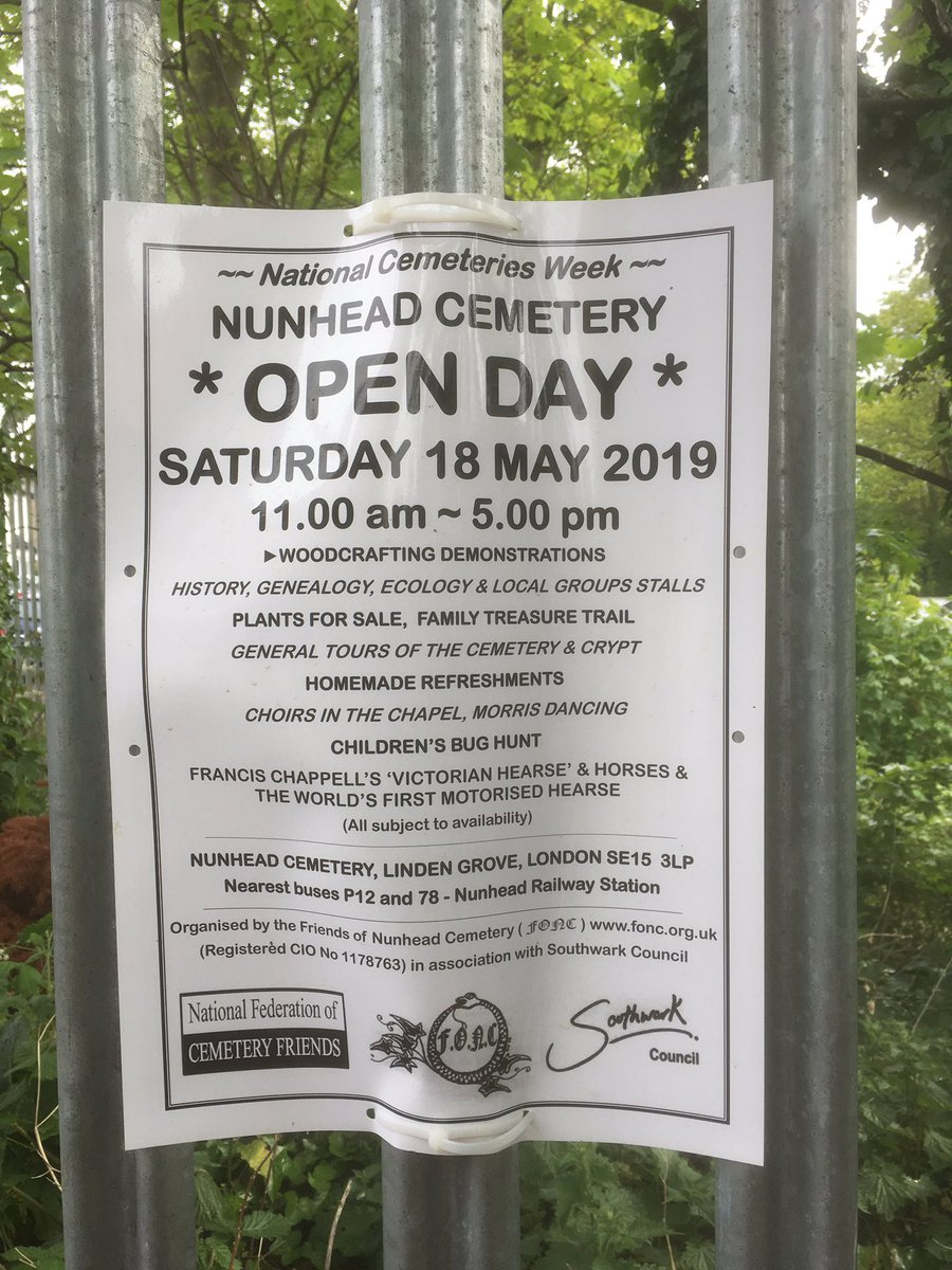 DATE for the DIARY-SATURDAY 18th MAY it's the wonderful #NunheadCemetery Open day ALWAYS a great #FamilyFun occasion-Joe used to 💕the Bug Hunt 🐛🦟🐞🕷🐜🦗#PopDown #Support #LoveSELondon