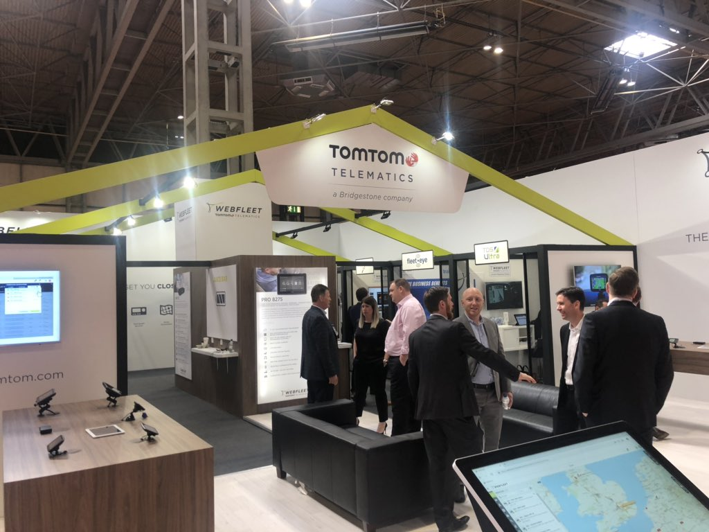 tomtomwebfleet have an innovative use of their stand @thecvshow with their  partners in pods around the standpic twitter com/oykmpx27jn