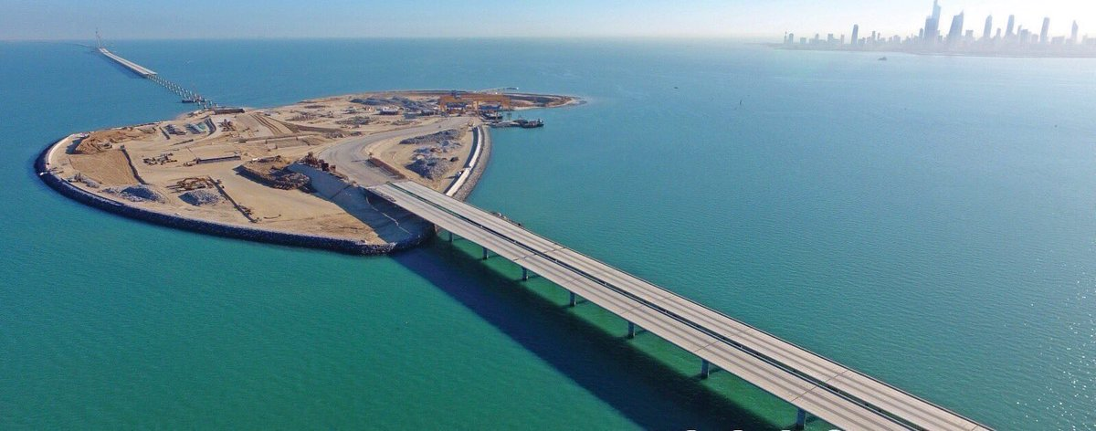 أمير الكويت يفتتح رابع أكبر جسر بحري في العالم D5jNSmzXoAA4ytU