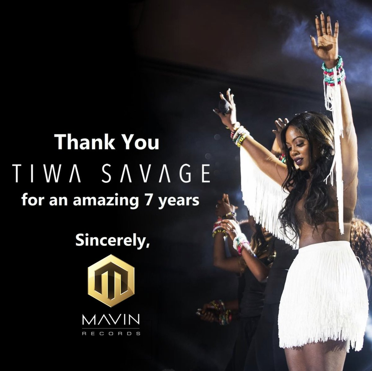 Standing ovation for Queen T. Love you always @TiwaSavage