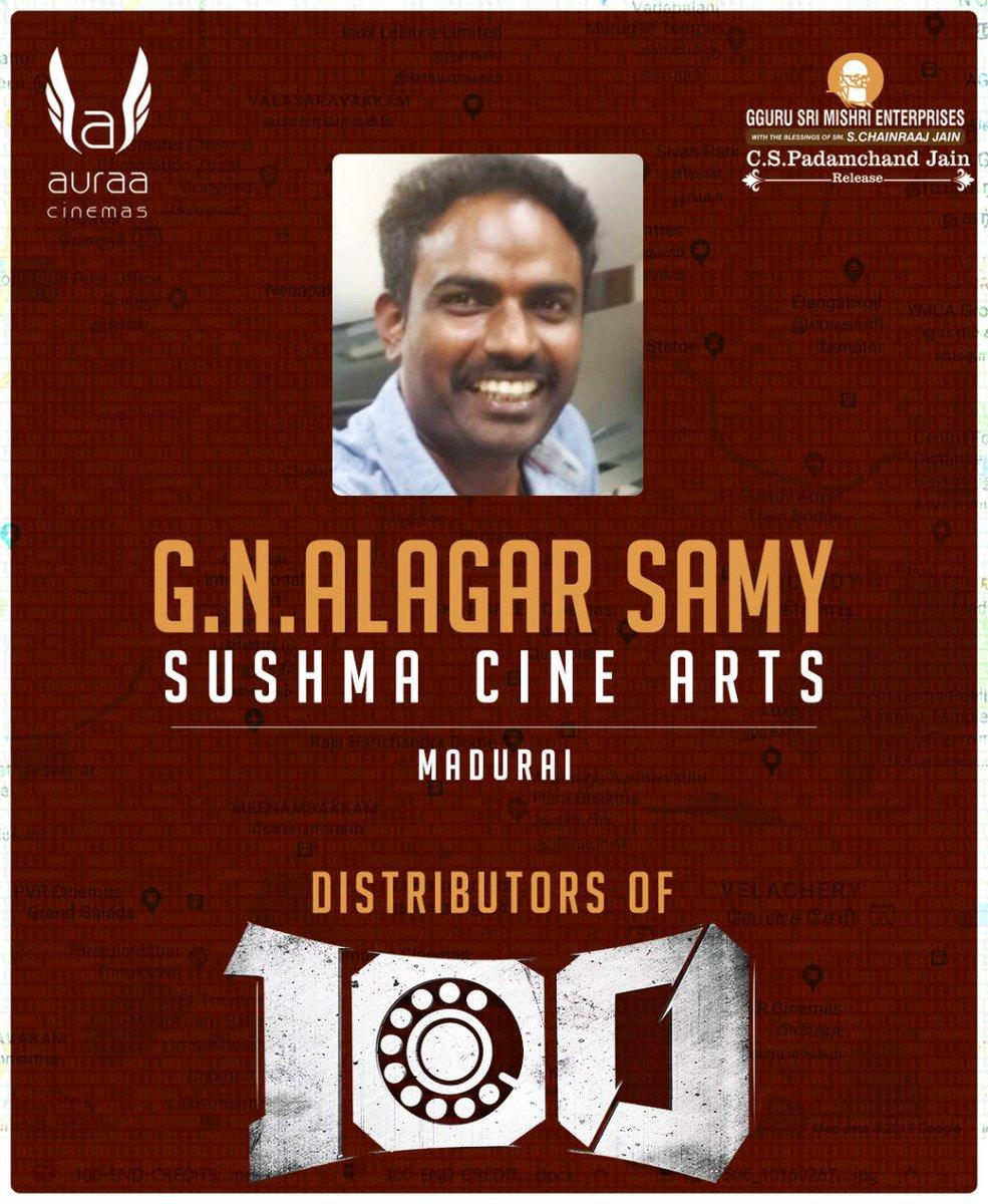 We Are Happy to announce our distributors for #100TheMovie !   @Atharvaamurali @samanton21 @SamCSmusic @ihansika @iYogiBabu @AntonyLRuben @krishnanvasant @dhilipaction @saregamasouth @DoneChannel1 @VanquishMedia__