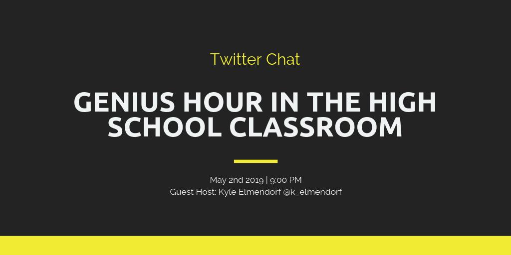 Excited to host tonight's @geniushour chat! Hope you can stop by, it starts at 9pm EST. #geniushour