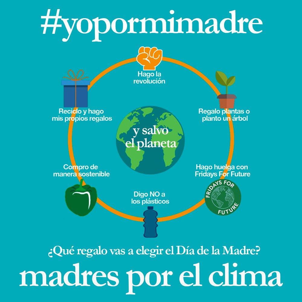 Hola!! Lanzamos una nueva campaña por el Día de la Madre. Este año no queremos que nuestras hijas e hijos nos compren regalos 🛍!! En plena emergencia climática, queremos que nos regalen ACCIONES que cuiden nuestro planeta y luchen contra el cambio climático. ✊🏼👶🏼👧🏾👦🏼