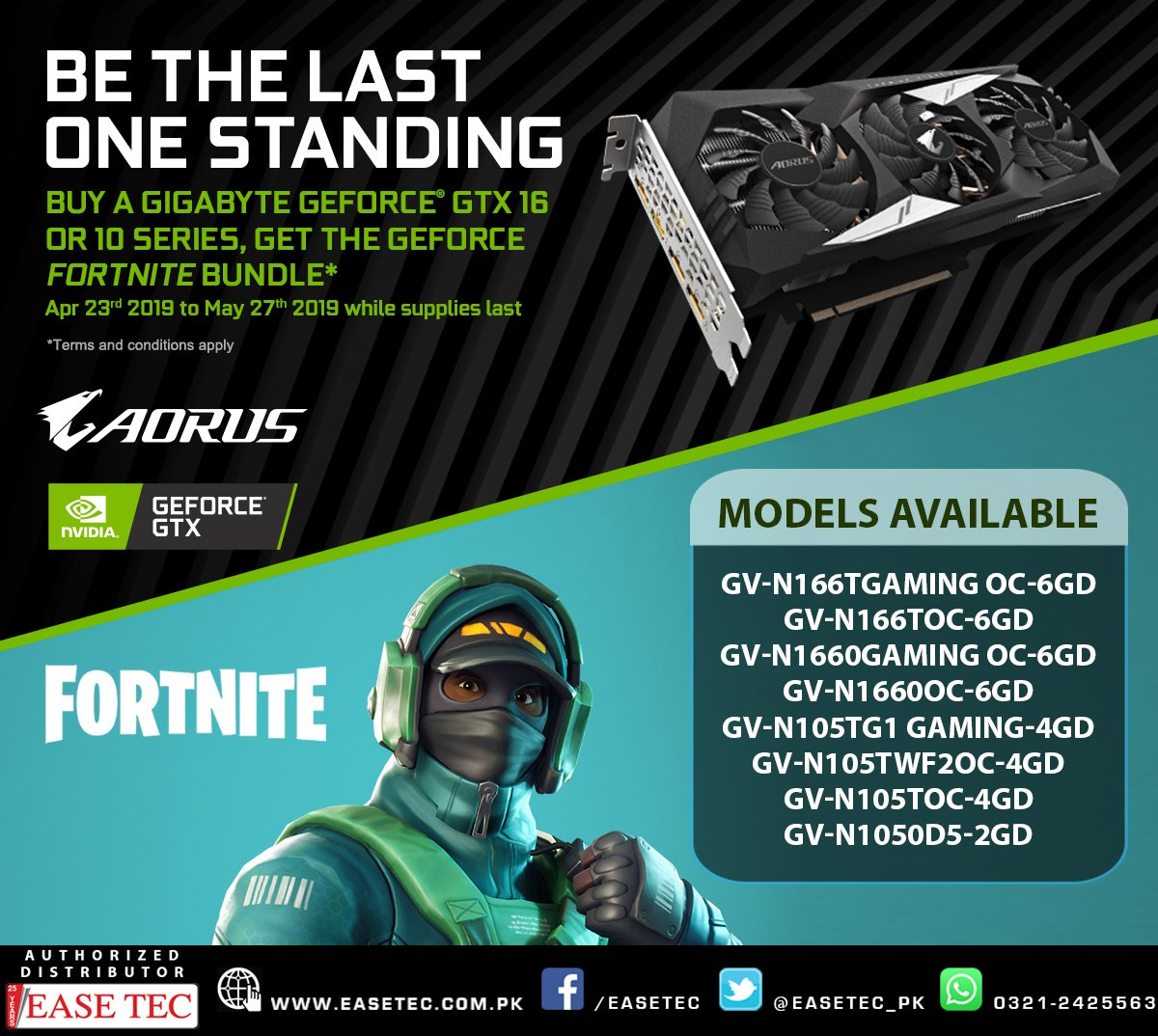 What Graphics Cards Get The Fortnite Geforce Bundle Easetec On Twitter Buy A Qualified Gigabyte Gtx And Get Fortnite Bundle Bundle Models Gigabyte Geforce Gtx 1660ti Gtx 1660 Gtx 1650 Gtx 1070ti 1070 1060 1050ti And 1050 Graphic Card