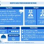 Image for the Tweet beginning: #JournéeduMotdePasse | La recette pour