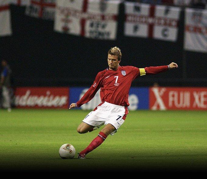 De las mejores pegadas de la historia . Happy birthday David Beckham