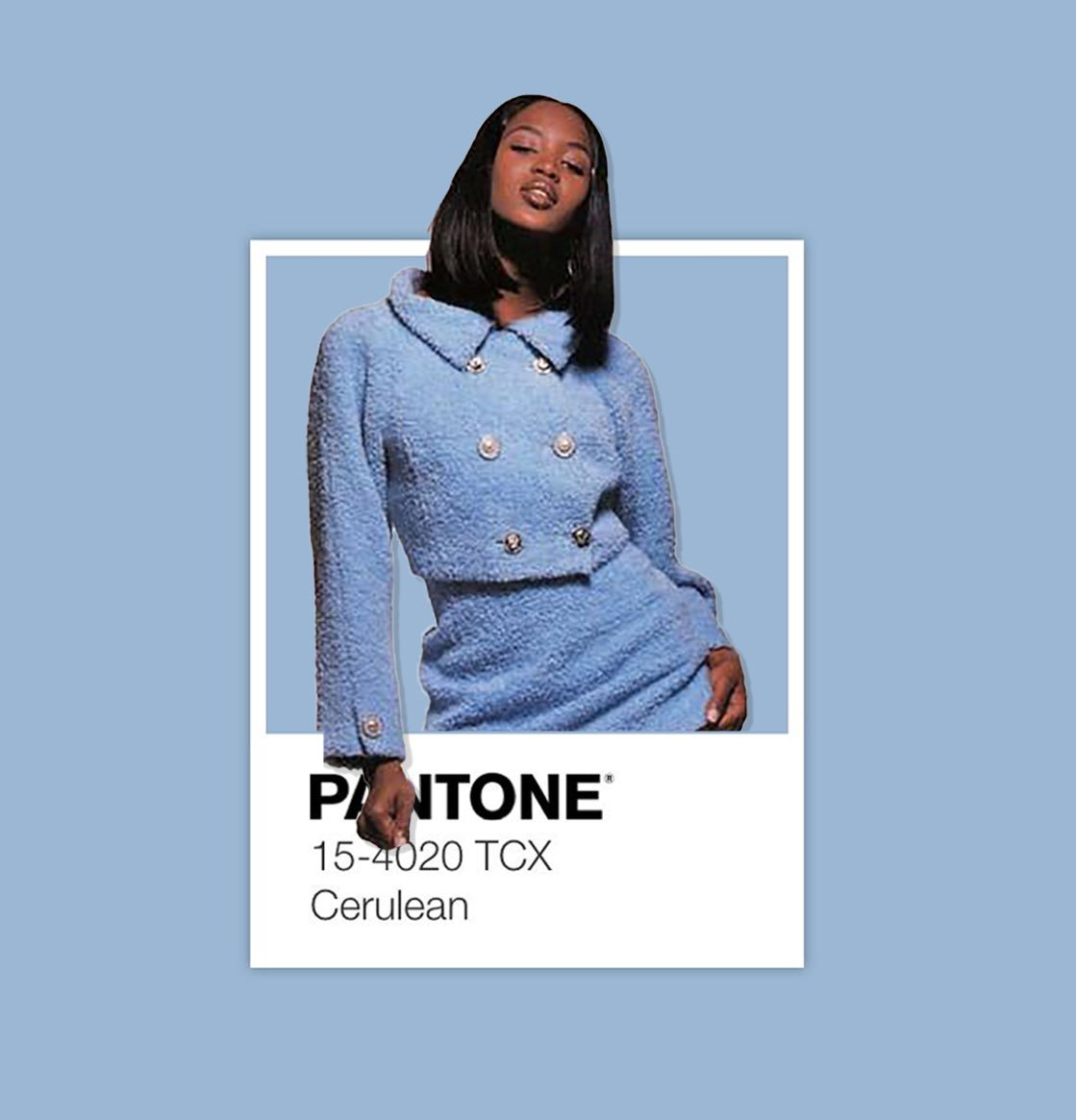 Naomi Campbell as Pantone swatches. A concept.