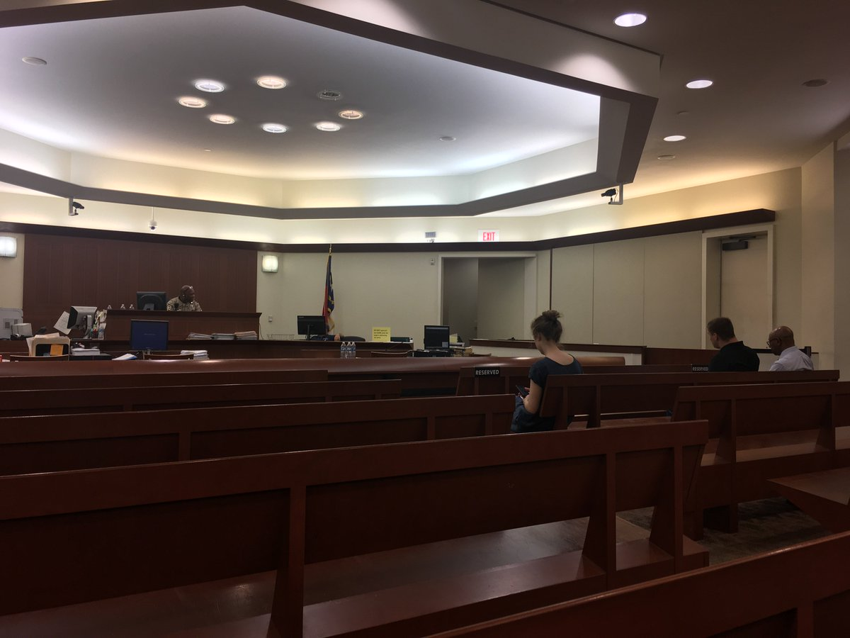 Accused UNC Charlotte shooter about to make first appearance in court. Photo from producer @dlewkowict