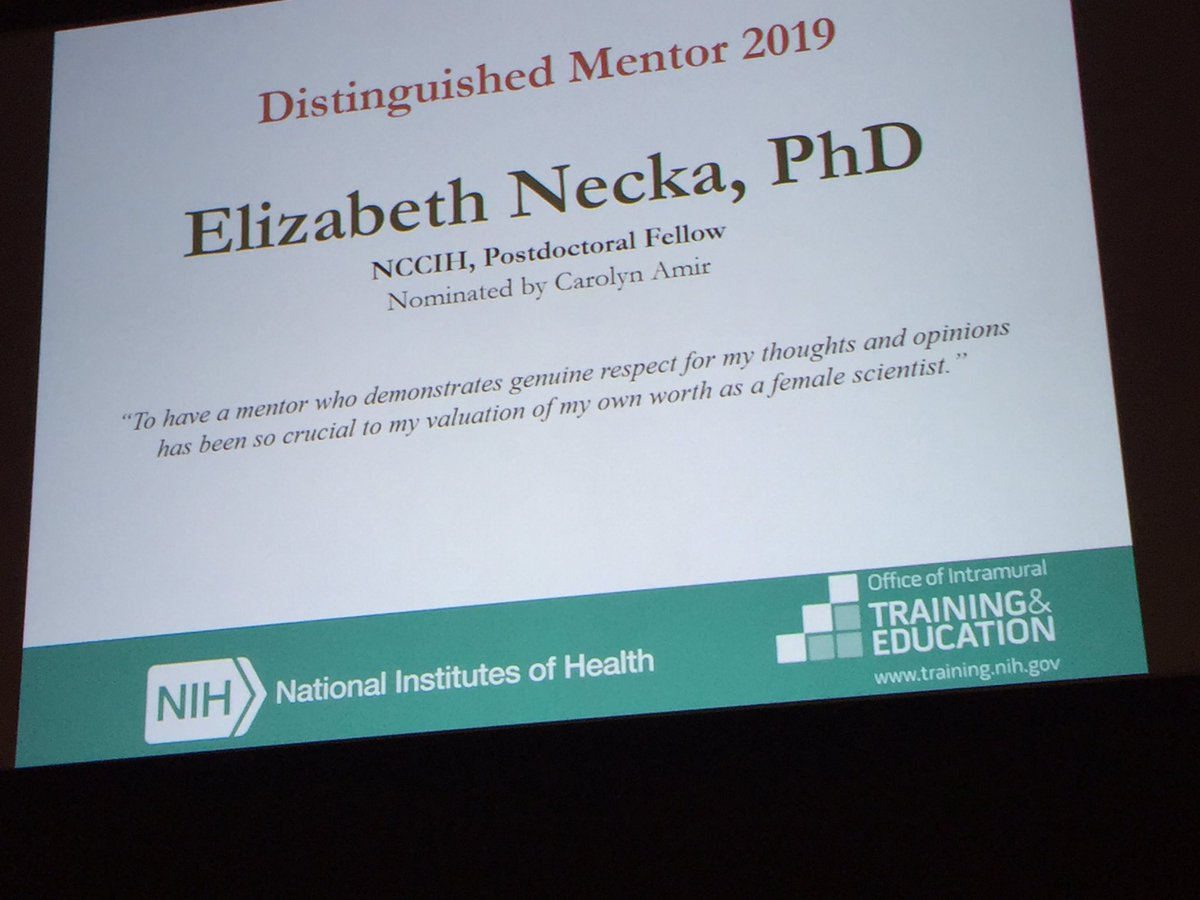 NIH OITE Sharonmilgram Grateful For Distinguished Postbac Mentors 2019 Drs Liz Necka NCCIH Mark Eldridge NIMHgov And Freddy Escorcia