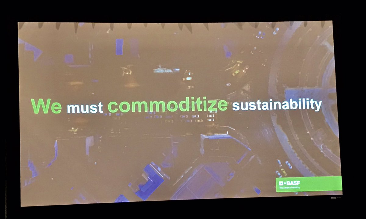 """""""We must innovate to commoditize sustainability. In a level playing field, sustainability always wins"""" - @MarceloRochaLu1 #GoodChemistry2019"""