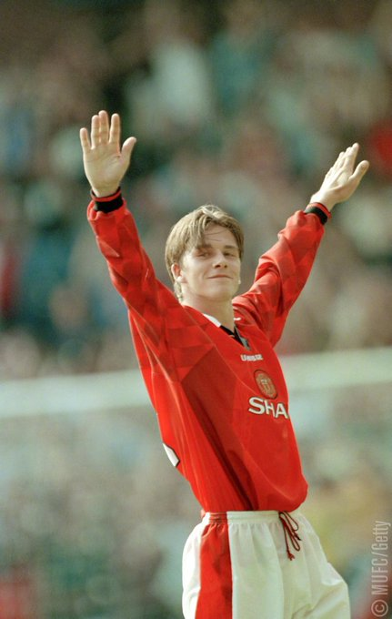 I was big into David Beckham when I was about 6 or 7  Happy birthday Becks
