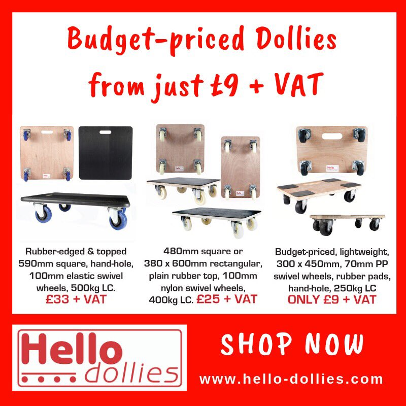 480mm Square Dolly Removals Moving Trolley Furniture Skate swiv wheels 250kg LC
