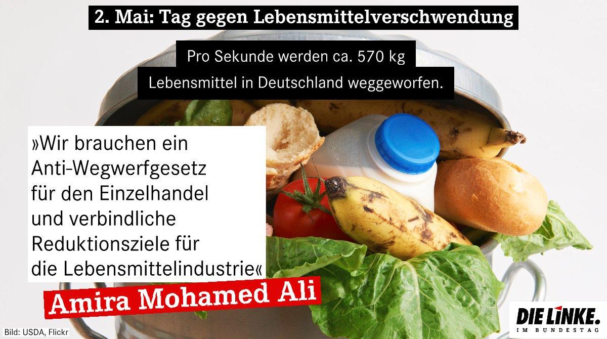 #Lebensmittel gehören nicht auf den Müll! Frau Klöckner, nehmen Sie Industrie und Handel endlich in die Pflicht. Wir brauchen ein Anti-Wegwerf-Gesetz und verbindliche Reduktionsziele für die Lebensmittelindustrie! #Lebensmittelverschwendung #dielinke