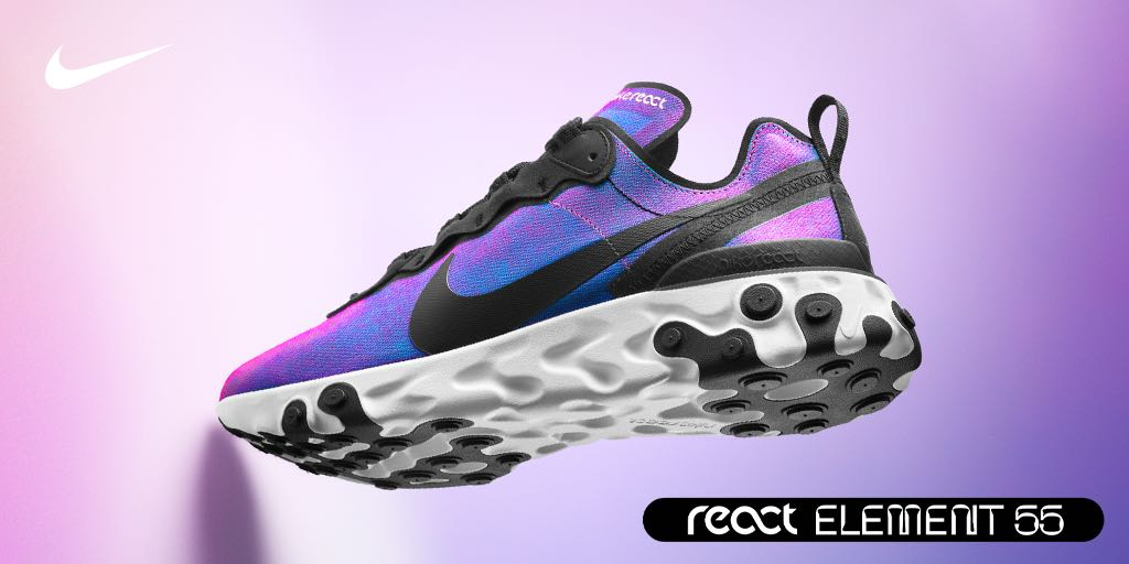 sports shoes c8da7 9c167 live at the intersection of sport and science nike element react 55 newness  has arrived shop