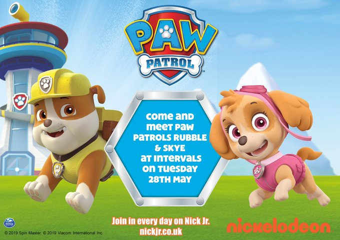 This May Half Term enjoy ALL our fun children's rides and on Tuesday 28th May come and meet PAW PATROL'S RUBBLE & SKYE! Cameras at the ready! Info: https://t.co/O4SngYhdR3 #pawpatrol  @KMWhatsOn @pawpatrol @kentlivewhatson https://t.co/JLplpTdq...