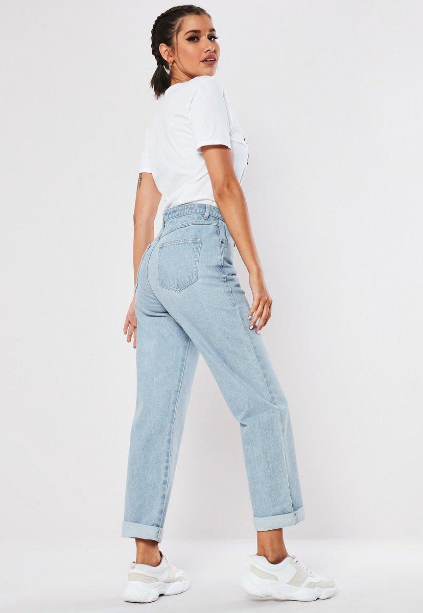 3f85e55980 Get the 'blue light wash high rise boyfriend fit denim jeans' on site now  http://missgu.id/awslnK #missguidedpic.twitter.com/8G0RmY7qDN