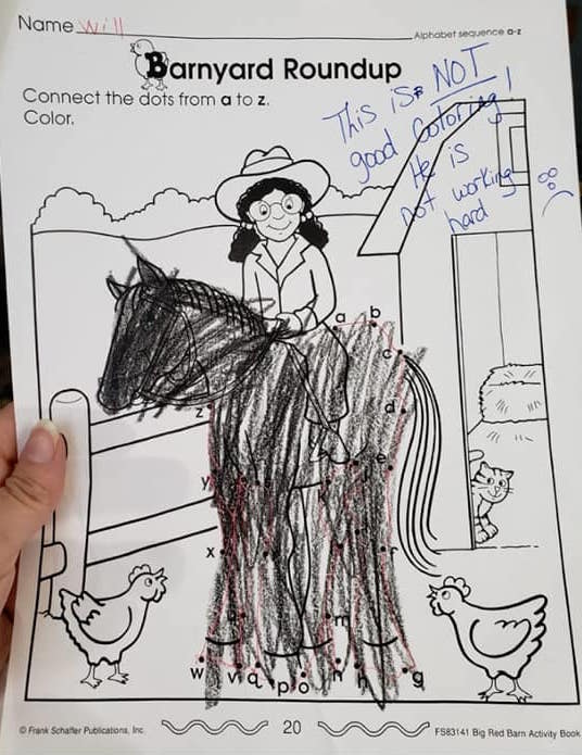 """Uživatel Pak Liam Na Twitteru: """"This Is Sad. My 5 Year Old Son Used To Color  Like That, And Now Suddenly He Is Drawing And Coloring On His Own Beautiful  Pictures. This"""