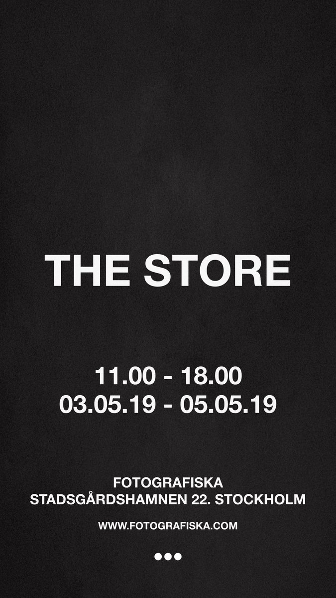 The Store opens tomorrow @ Fotografiska https://t.co/P2Q5GPxO8D