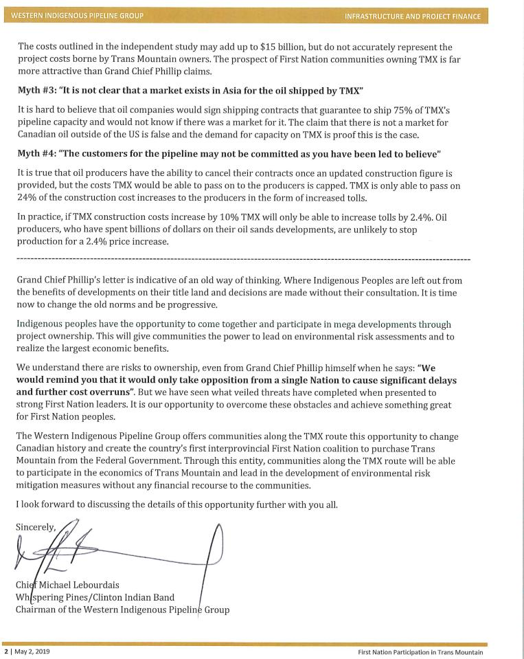 Thanks But No Thanks Letter.Shane Woodford On Twitter The Western Indigenous Pipeline Group