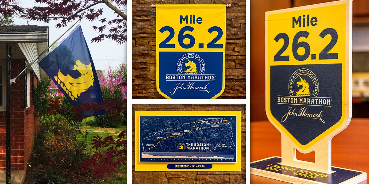 Commemorate your #Boston2019 accomplishment with custom displays. Products include Course Maps and Wooden Mile Marker Replicas, Replica Mile Marker Banners, and Boston Marathon and @BAA logo flags. Check out all the items available -  https:// fanbanner-baa.com /   <br>http://pic.twitter.com/QDHRPyJxcg