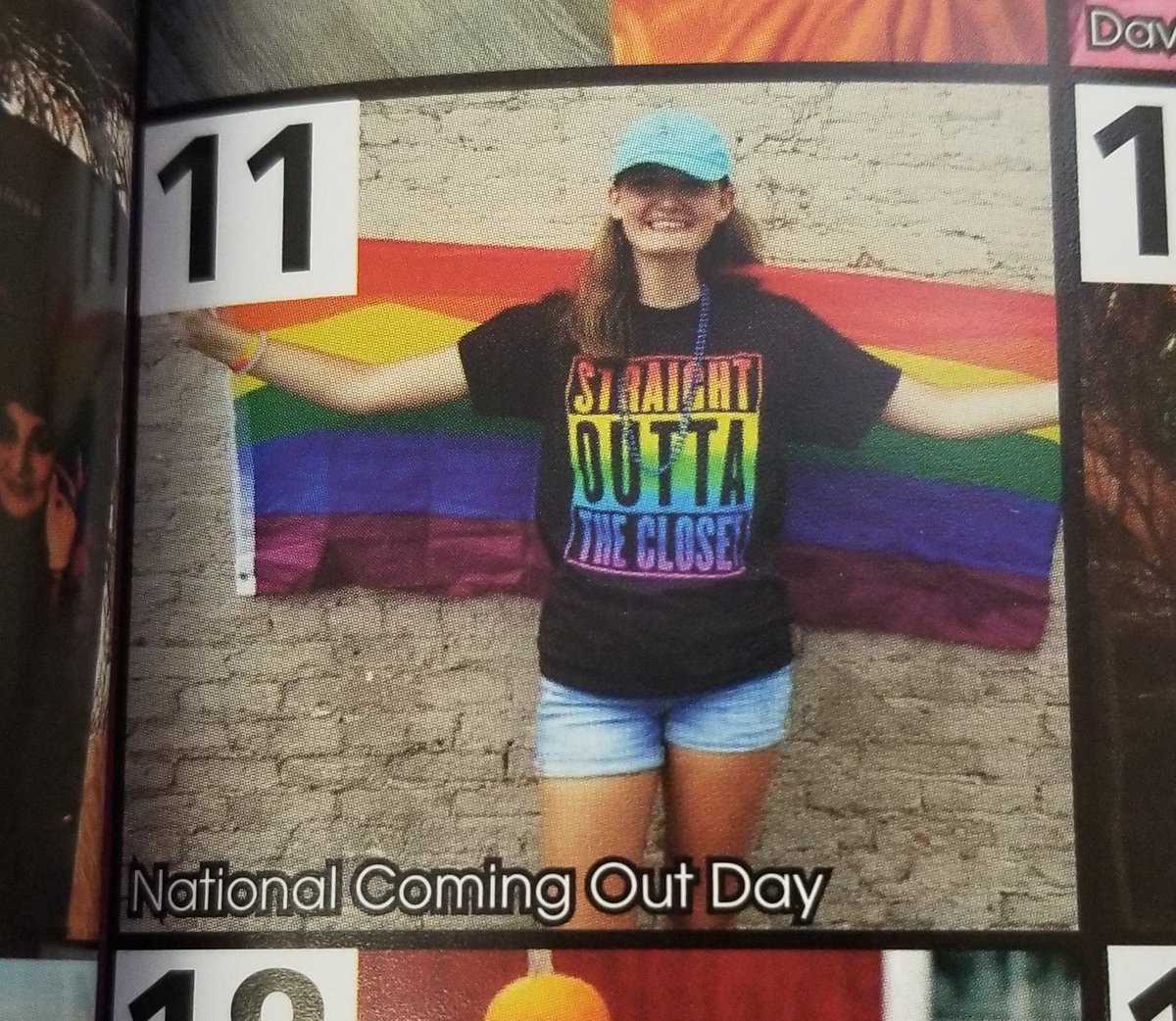on the real though if anyone told freshman me that i would have a gay senior quote or be in the yearbook for national coming out day i would&#39;ve thought you were crazy and i&#39;m so proud of how far i&#39;ve come <br>http://pic.twitter.com/qyWkGbpCUU