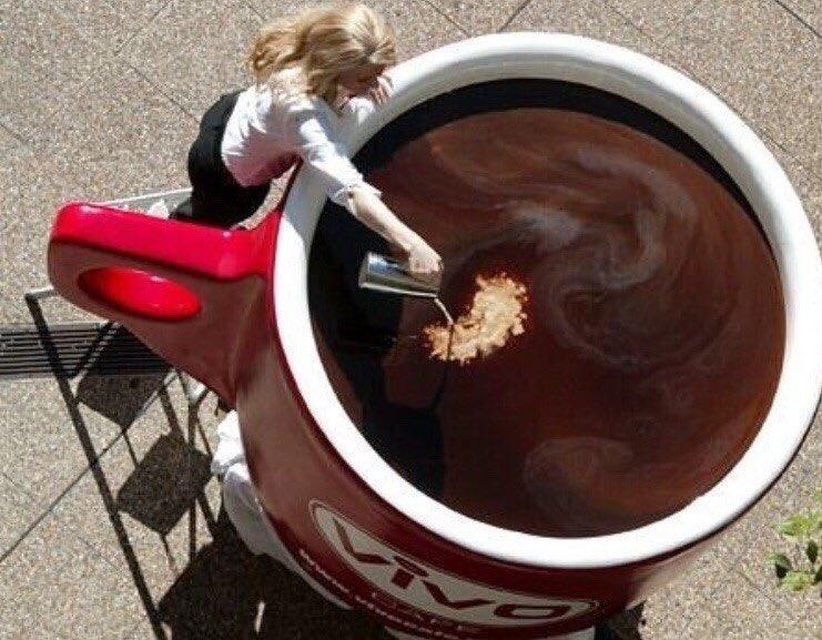 картинка очень большая кружка кофе они выглядят