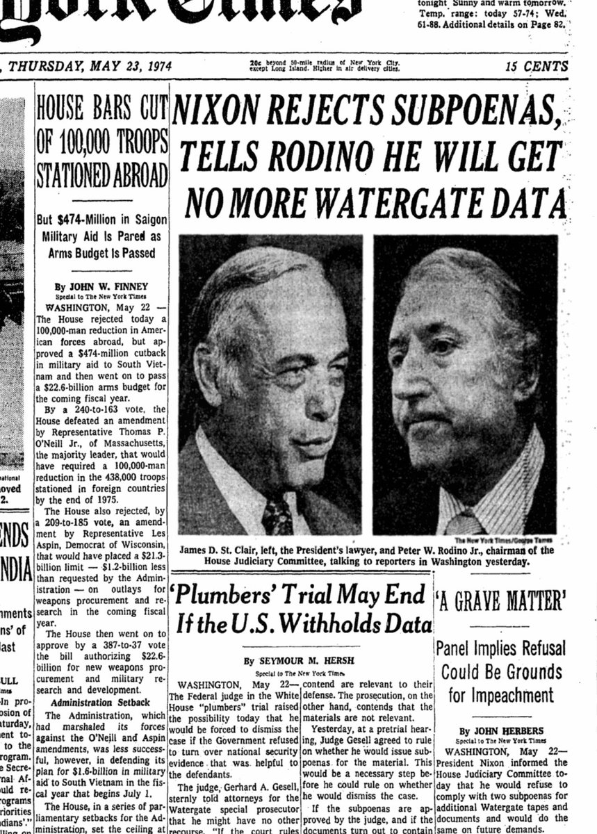 New York Times, 45 years ago this month: