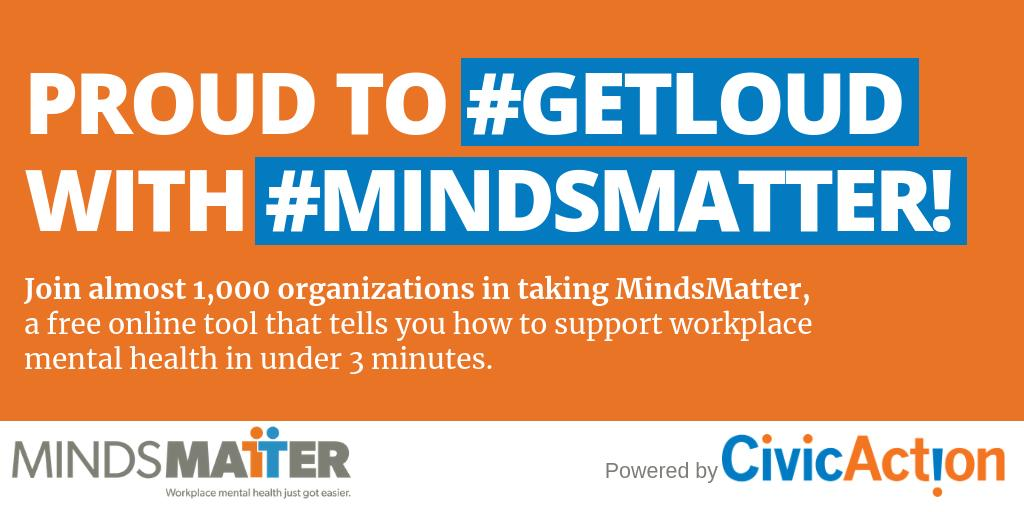 It's #MentalHealthWeek! Reach out to @CivicActionGTHA to receive your tailored 3-point action plan on #WorkplaceMH today. #mindsmatter #BellLetsTalk http://mindsmatter.civicaction.ca
