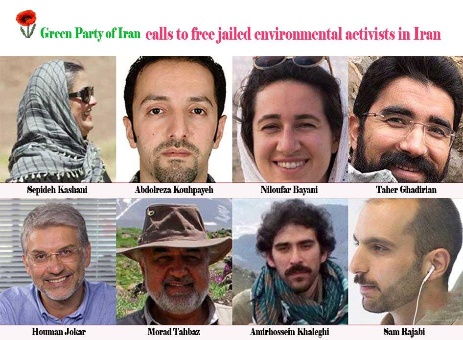 حزب سبزهای ایران خواستار آزادی فعالان محیط زیست در ایران است