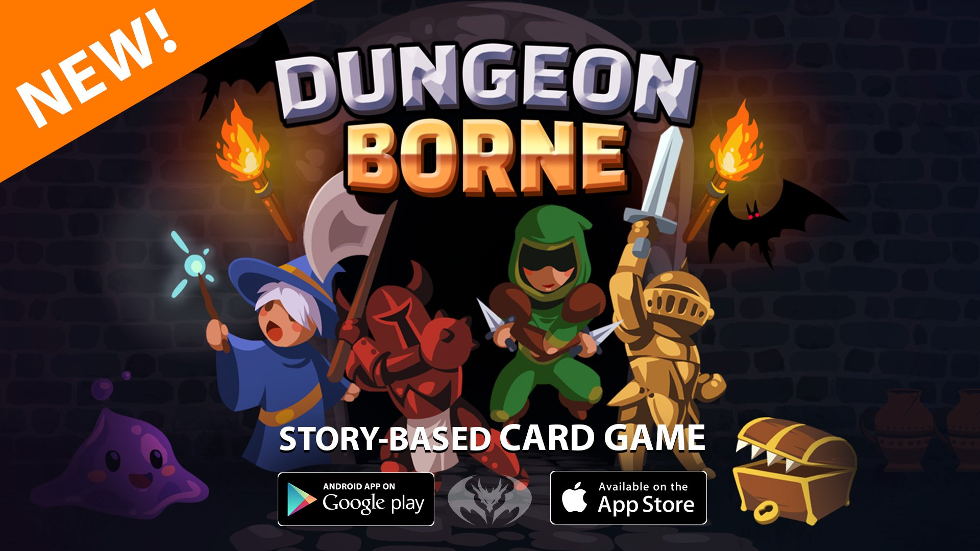 """Alina no Twitter: """"ENTER THE DUNGEON! DungeonBorne, the story-based card game is now available for Android & Apple: https://t.co/hs1vrH7bVL (This is the first game from our January 2019 Game Jam)… https://t.co/x8vMhYqdqU"""""""