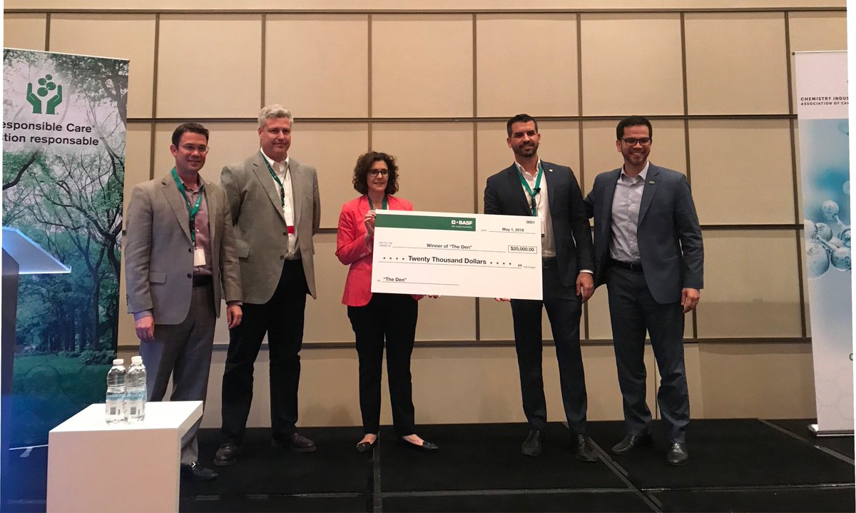 BASF Canada awards @Pyrowavetechno  $20,000 in start-up challenge at the #GoodChemistry2019 Conference! @ChemistryCanada http://ow.ly/ZBd630oClsr