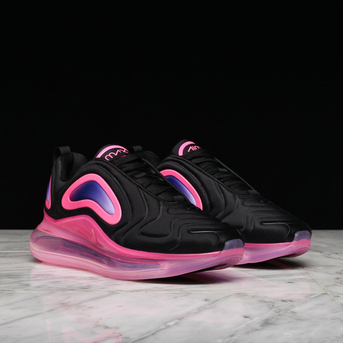 the latest 81993 eed35  126 w code LH30  Nike Air Max 720 Black Pink Blast https   bit.ly 2VFVkUU  Bright Crimson Black https   bit.ly 2JaRlJb  ADpic.twitter.com R1kM3OtEtL