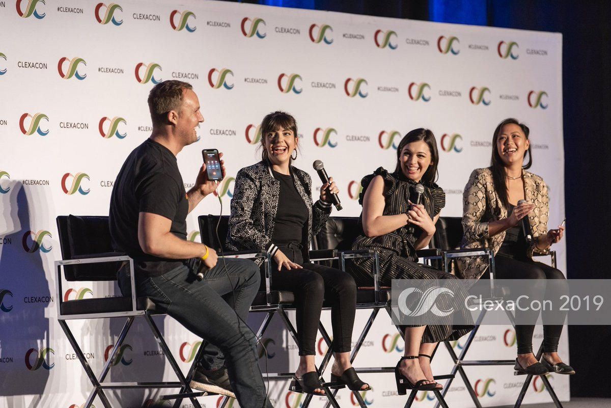 #tbt to that time the legendary Rita Moreno aka the incomparable Abuelita called in to the @OneDayAtATime panel at #ClexaCon2019 with @Isabella_Gomez, @sheridan_pierce, Brent Miller and @kchloetse!! #ODAAT <br>http://pic.twitter.com/8qKGV0Qx8L