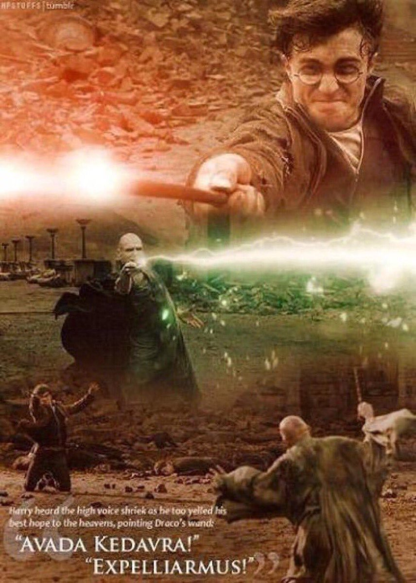 Harry Potter Universe On Twitter The Final Battle Between Harry Potter And Lord Voldemort Avada Kedavra Expelliarmus 21yearsbattleofhogwarts