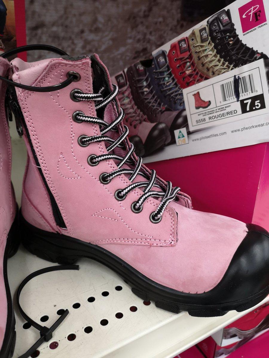 ladies steel toe boots