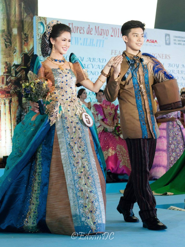 Kisses Royalty On Twitter Look Top Fashion Designer Pepe Quitco S Filipiniana Dress For The 40th Flores De Mayo On Sunday He Is One Of Philippines Elite Fashion Designers Like Ben Farrales