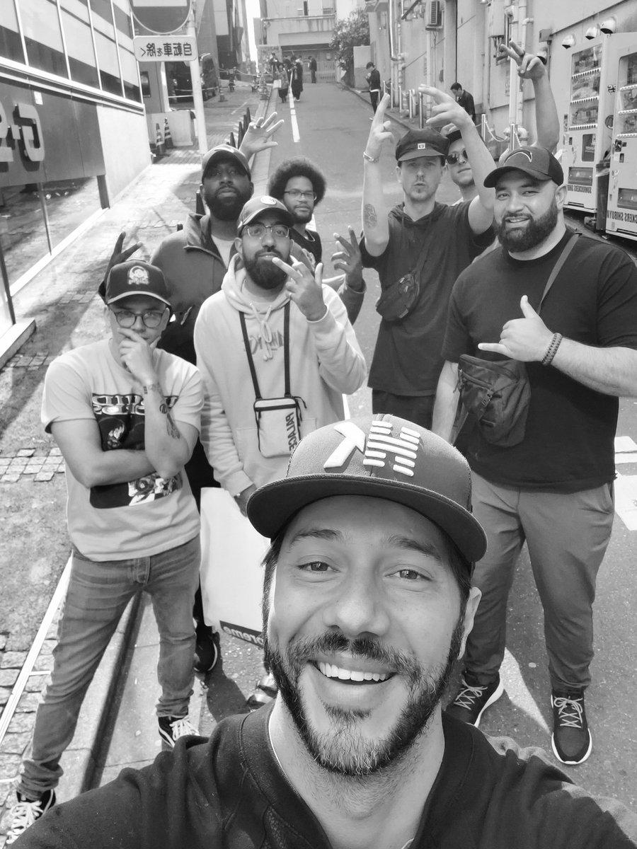Mobbin through the streets of Tokyo with my brethren! #Rattpack boiiiiiiii