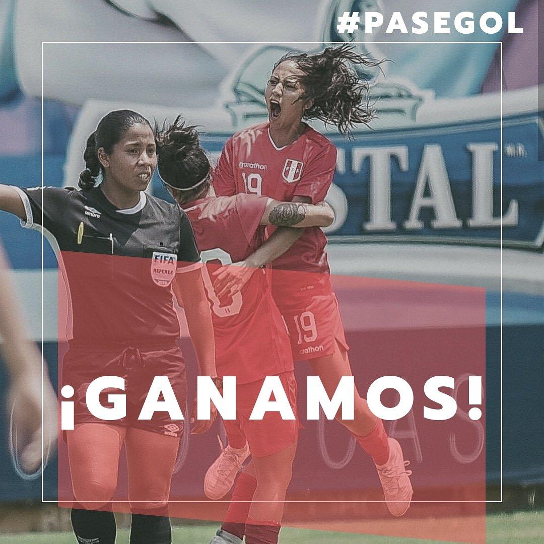 ¡GANAMOS! 🇵🇪  Nuestra selección femenina venció 1-0 a una universidad canadiense 🇨🇦 con tanto de Pierina Núñez, jugadora de #SportingCristal. Vamos por más chicas ¡ARRIBA PERÚ!  #PaseGol #ApoyemosElFútbolFemenino #peru #PeruNews #selecciónperuana